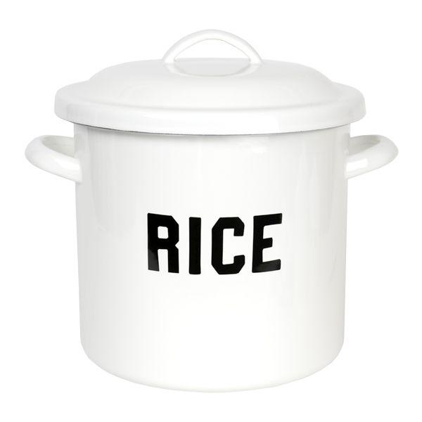 ホーロー キャニスター RICE