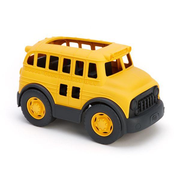 まるでアメリカのアニメに出てきそうなスクールバスです。
