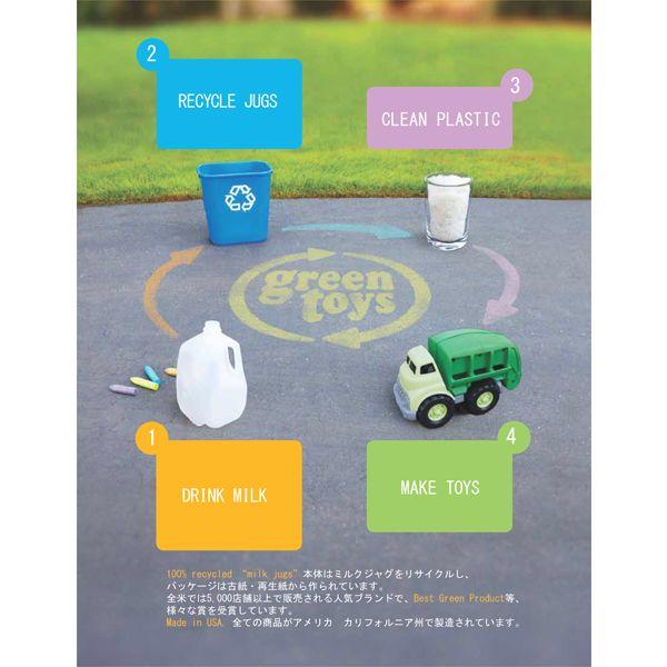 アメリカのカリフォルニアで製造され、ミルクジャグを100%リサイクルして作られています。
