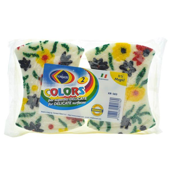 COLOURS NoScratch Foamはカラフルな花柄がプリントされたスポンジです