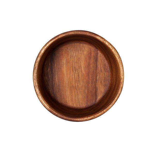 天然木のアカシアの木で作られたサラダボウルです。