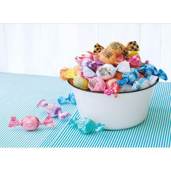 キャンディー型がキュートな発泡入浴剤です