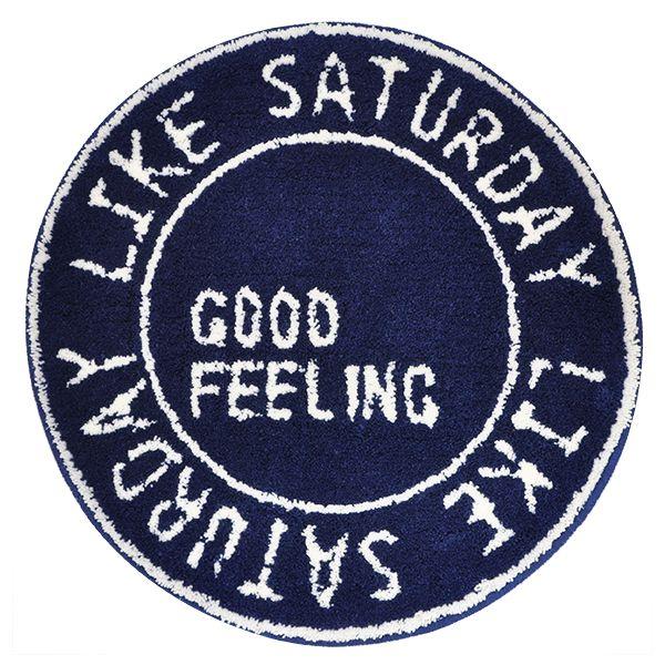 Like Saturday ラウンドマット 60R ネイビー