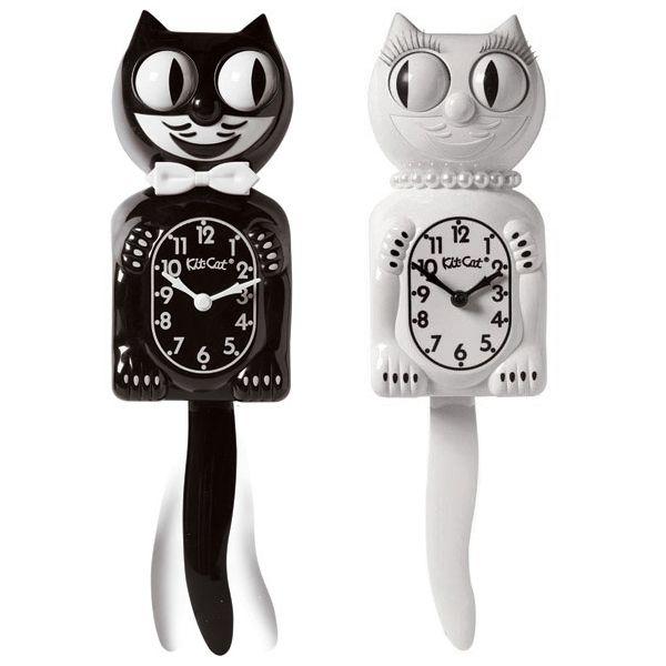 KIT-CAT KLOCK キットキャットクロック White lady
