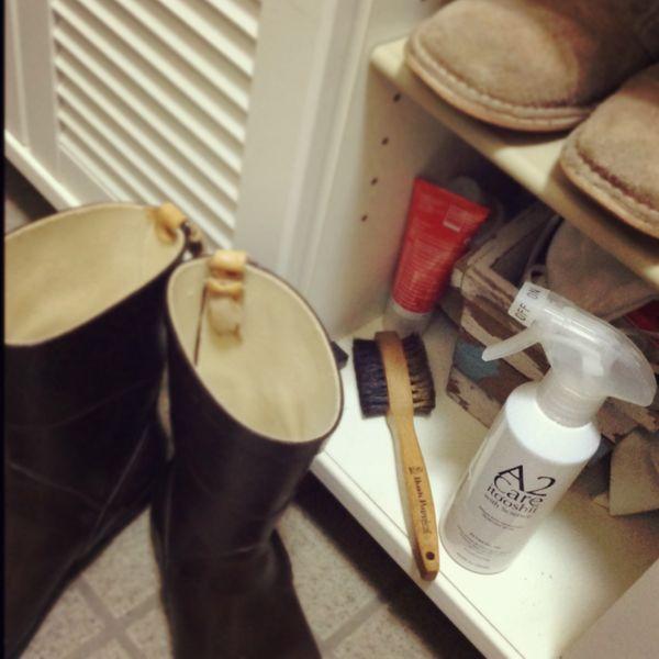 ブーツやスニーカーなど洗うタイミングが難しいアイテムにもおすすめ。