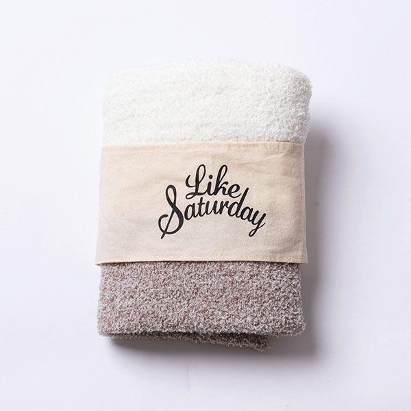 Like Saturday シャギークッションカバー 45×45 ネイビー