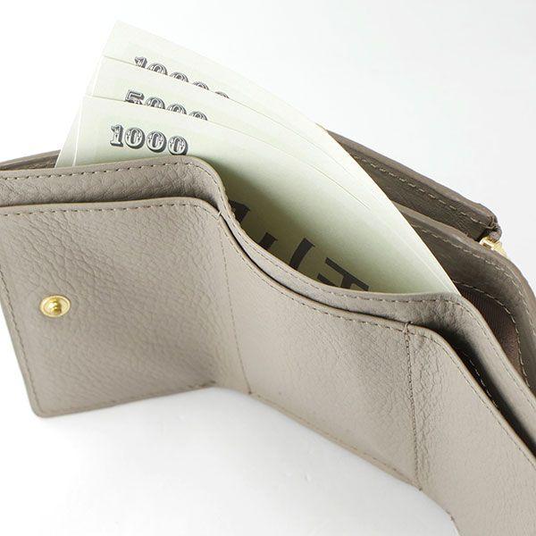 Arizona 三つ折り財布 キャメル