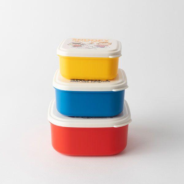 スヌーピー シールランチボックス 3点セット / SEALED LUNCH BOX SET3