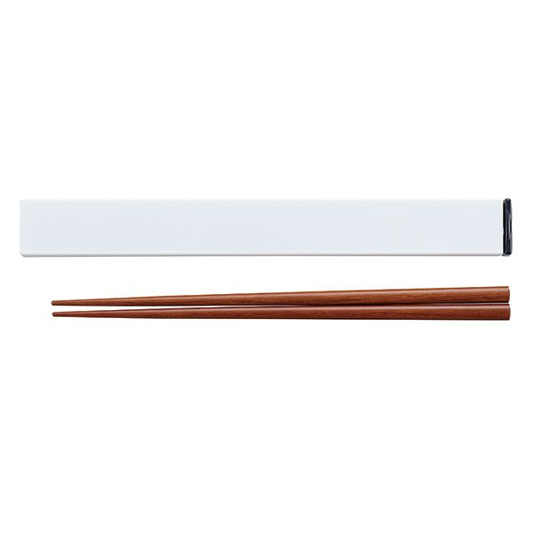 箸箱セット18cm ホワイト