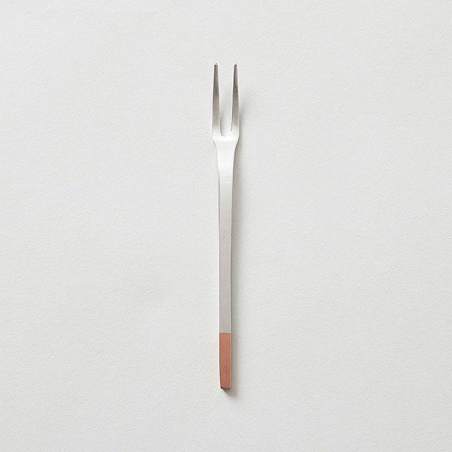 工房アイザワ 純銅のカトラリー 姫フォーク (純銅洋食器 銀仕上)