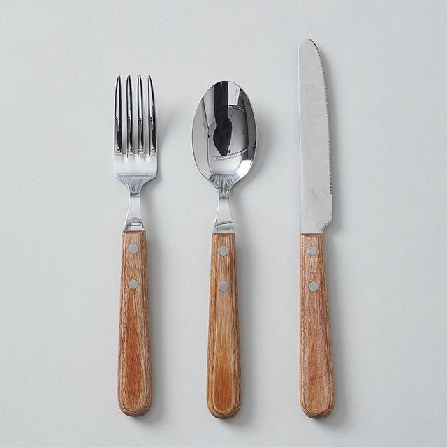 Willassist/ウィルアシスト ウッドハンドル カトラリー(ブラウン) ナイフ