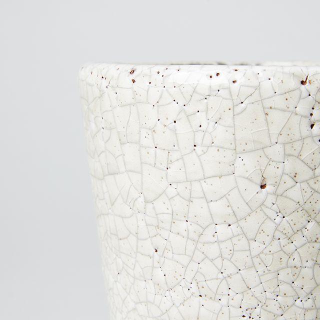 COLOR GLAZED POT Ivory