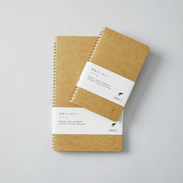 スパイラル リングノート 南国カンガルー / ポケット A5スリム