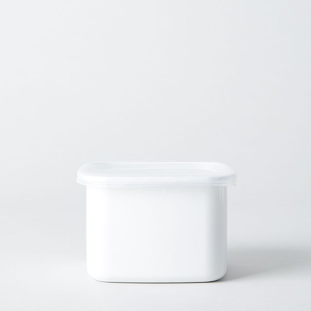 野田琺瑯 ホワイト・シリーズ スクエア(シール蓋付) M