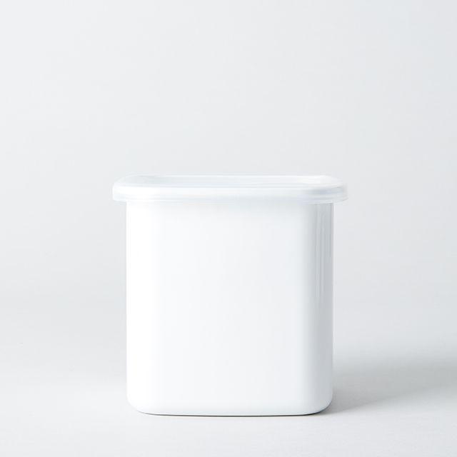 野田琺瑯 ホワイト・シリーズ スクエア(シール蓋付) L