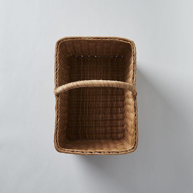 24-74 籐の手付きかご 長方形