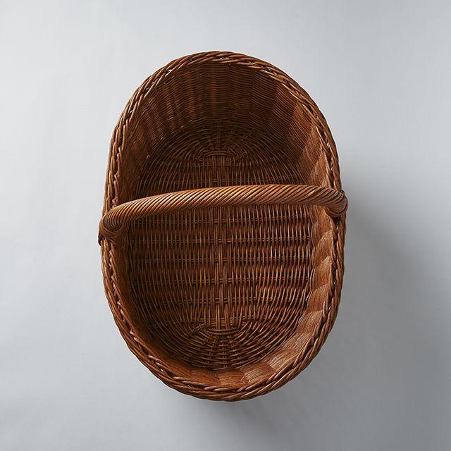 31-46 籐の手付きかご 楕円型 L