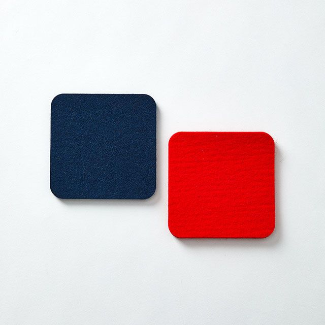 Fabrikant/ファブリカント ウールコースター ネイビー
