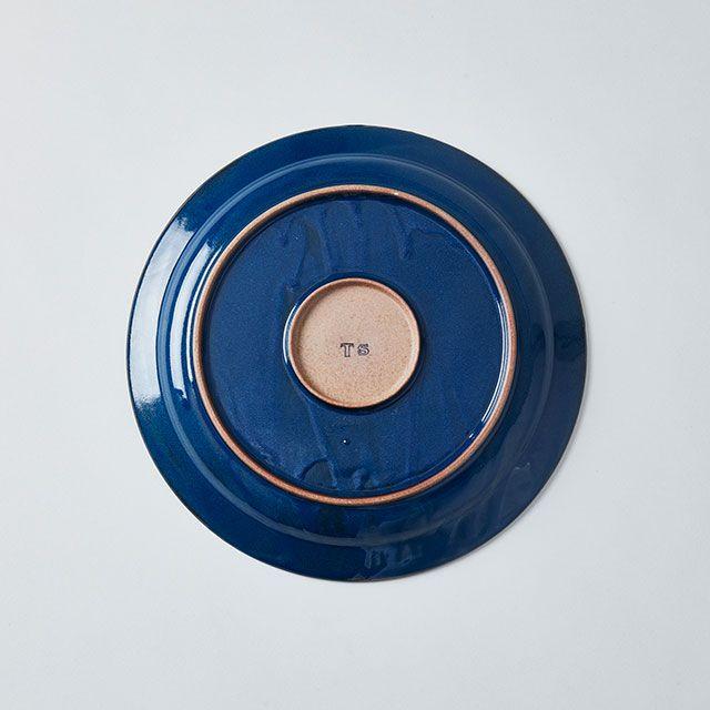 藍染窯×TODAY'S SPECIAL プレート 18cm ボルドー