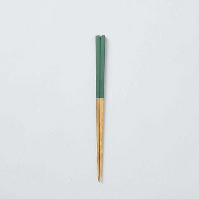 みやこ箸 小 緑