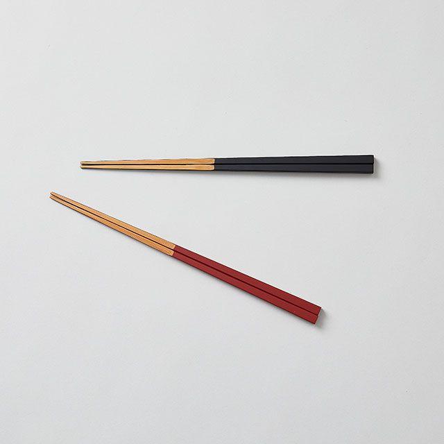 公長齋小菅 先削り箸 黒