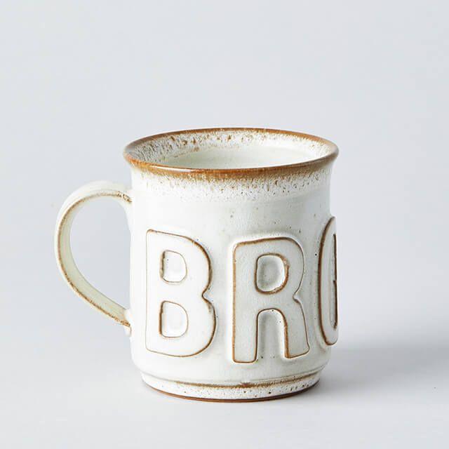 BROWN MUG ホワイト