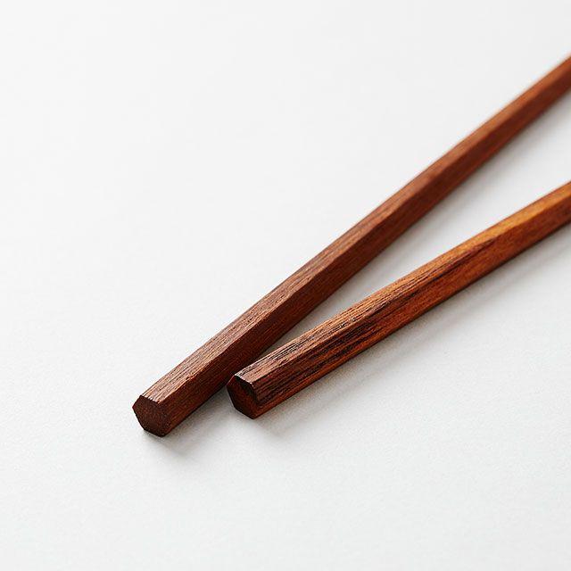 三義漆器店 六角箸 鉄木 小