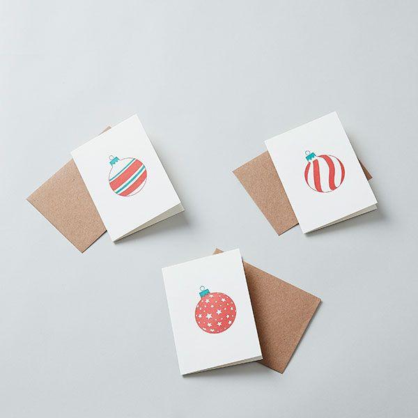 PENGUIN INK/ペンギン インク mini X'mas カード Four stripe
