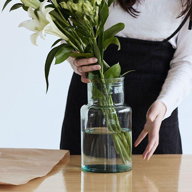 リサイクルガラス フラワーベース