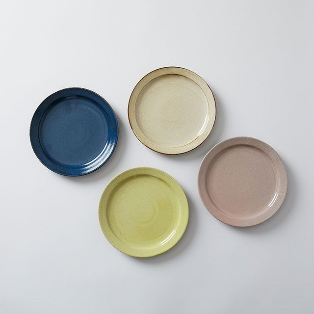 藍染窯×TODAY'S SPECIAL プレート 18cm うぐいす