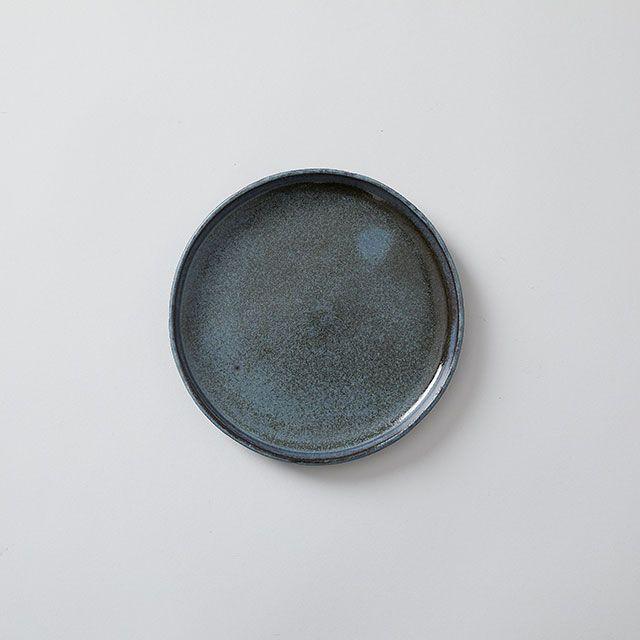 向山窯×TODAY'S SPECIAL FLAT PLATE 5寸 黒田釉