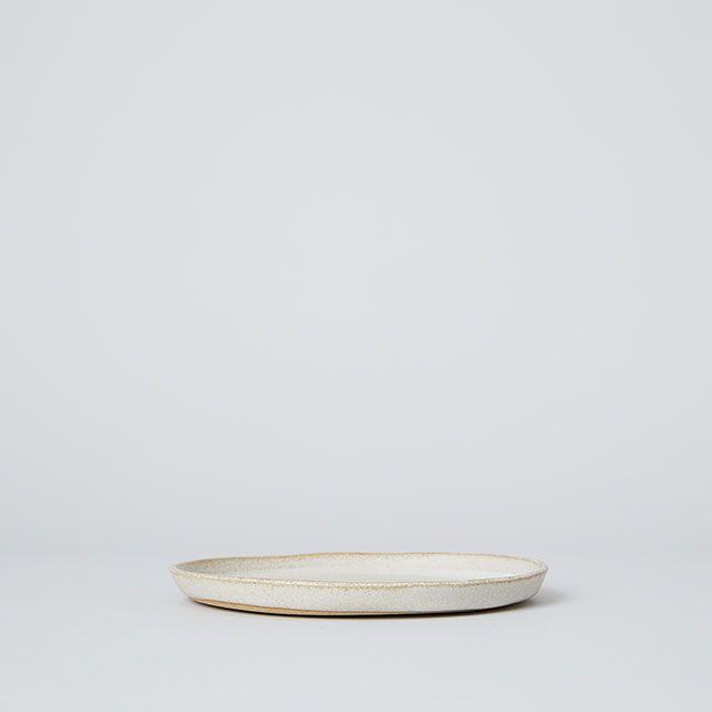 向山窯×TODAY'S SPECIAL FLAT PLATE 5寸 斑白