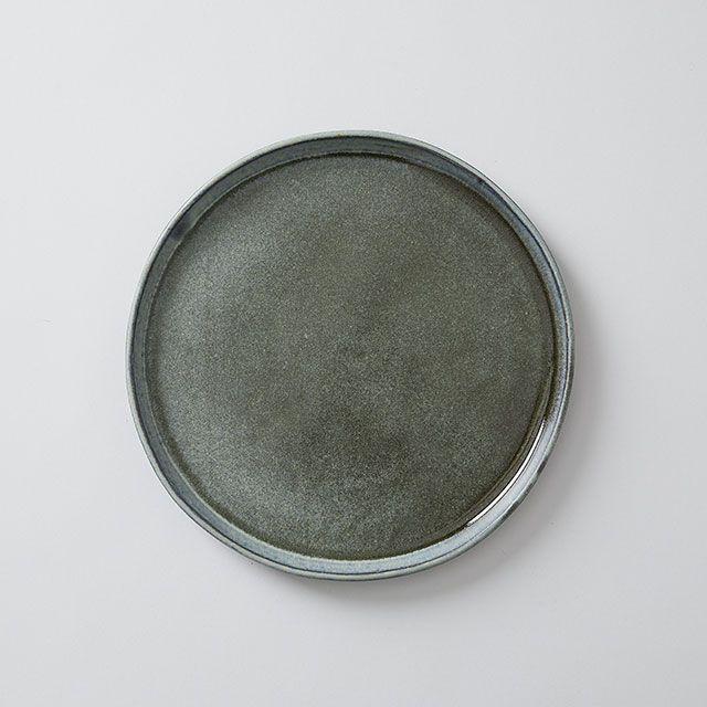 向山窯×TODAY'S SPECIAL FLAT PLATE 8寸 黒田釉