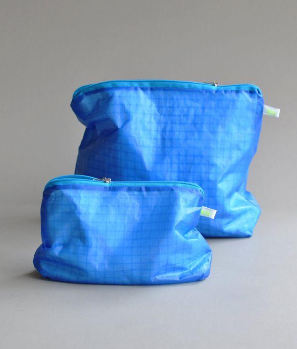 Magic Zipper Pouch / Blue / L
