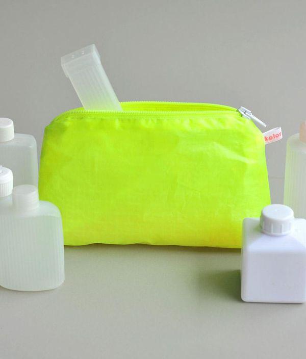 Magic Zipper Pouch / Yellow / S