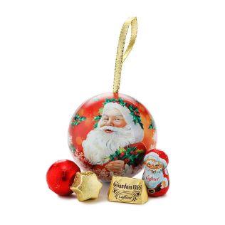 カファレル クリスマスオーナメント缶 サンタ2019