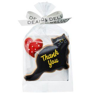DEAN & DELUCA アイシングクッキー 黒猫&ハート