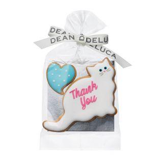 DEAN & DELUCA アイシングクッキー 白猫&ハート【賞味期限2020年4月30日】