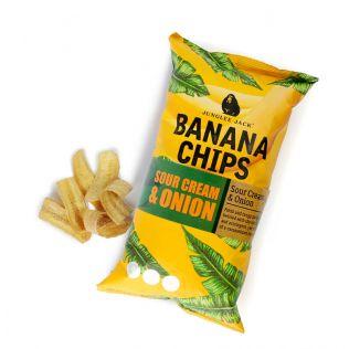 ジャングリージャック バナナチップス サワークリーム&オニオン