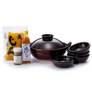【オンラインストア限定】DEAN & DELUCA 竜清窯土鍋&小鉢と調味料セット