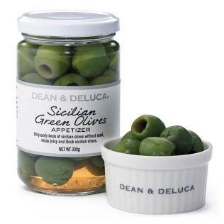 DEAN & DELUCA グリーンオリーブ種抜き塩水漬け