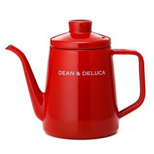 DEAN & DELUCA ホーローケトル レッド1L