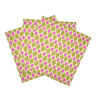 セラックス ペーパータオル ピンク×グリーン ダイアモンド
