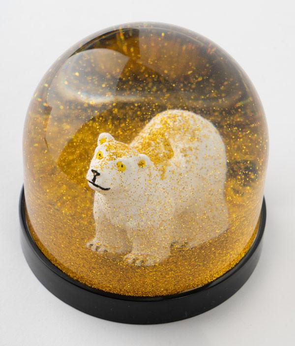 Wonderball polar bear / gold glitter