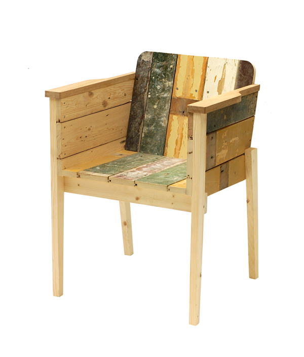 SCRAPWOOD ARM CHAIR