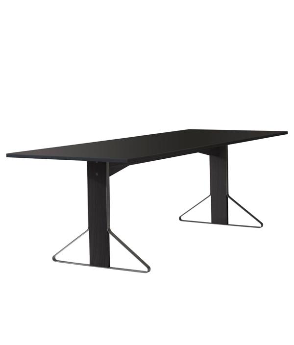 KAARI 002 DINING TABLE/ブラックリノリウム/ブラックオーク