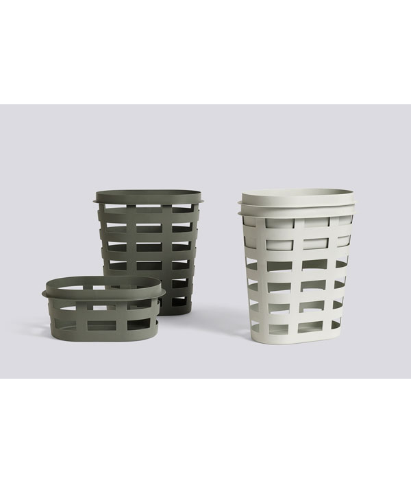 LAUNDRY BASKET S LIGHT GREY