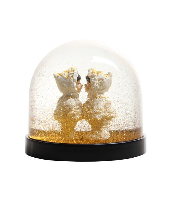 Wonder Ball eskimo's gold glitter