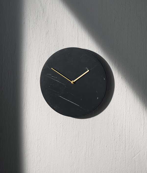 Marble Wall Clock/BLACK