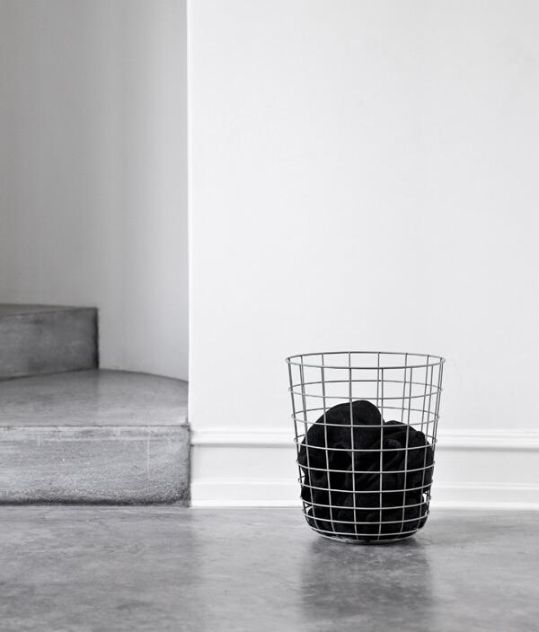 Wire bin/WHITE